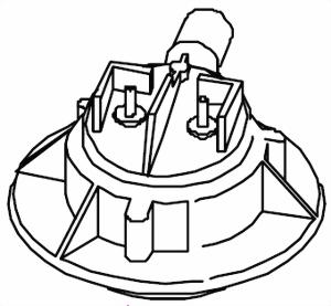 Sprühkopf Oberteil für die Mondo-Serie von 1996 bis 2009 Bravilor Bonamat