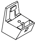 Fuss Oberteil für die Mondo-Serie von 1996 bis 2009 Bravilor Bonamat