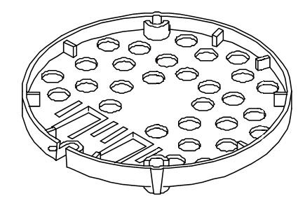 Abschirmplatte PTC-Kunststoff für die Mondo-Serie von 1996 bis 2009 Bravilor Bonamat