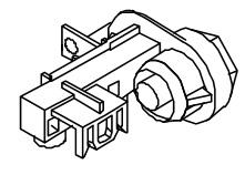 Klemmleiste mit Erdungsfahne für die Mondo-Serie von 1996 bis 2009 Bravilor Bonamat