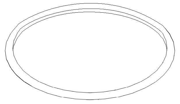 O-Ring 155 x 3,5 zwischen Kaffeebehälter und obere Abdeckung der RLX-Serie Bravilor Bonamat