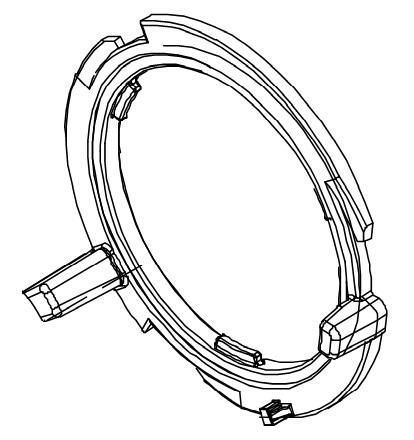 Mischkammerbefestigung für den Bolero 111 Bravilor Bonamat