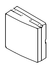 Steckdosenabdeckung rechts für die B 40 Serie ab Bj.2000 Bravilor Bonamat