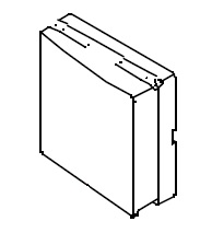 Steckdosenabdeckung links für die B 5 Serie ab Bj.2000 Bravilor Bonamat