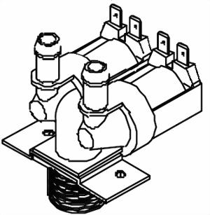 Magnetventil doppelt RL Serie Bravilor Bonamat